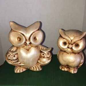Vintage Accents - Vintage family of owls
